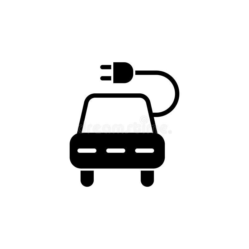 Coche, icono del zócalo en el fondo blanco Puede ser utilizado para la web, logotipo, app móvil, UI UX ilustración del vector