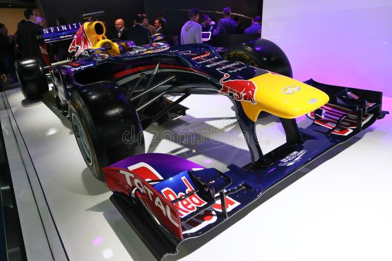 Coche Infiniti Red Bull de la fórmula 1 que compite con RB9 imagen de archivo libre de regalías