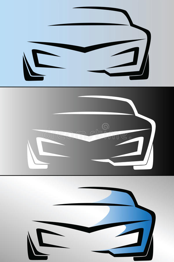 Coche Logo Design stock de ilustración