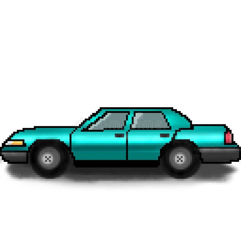 Coche multicolor del pasajero exhausto del pedazo del pixel 8 libre illustration