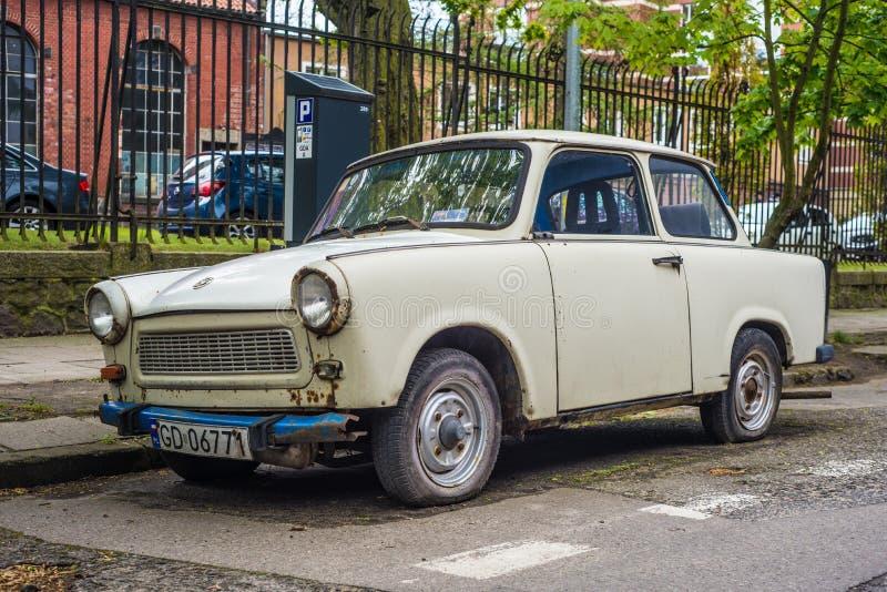 Coche plástico alemán viejo Trabant 601 fotos de archivo