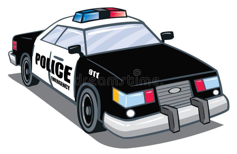 Coche policía stock de ilustración