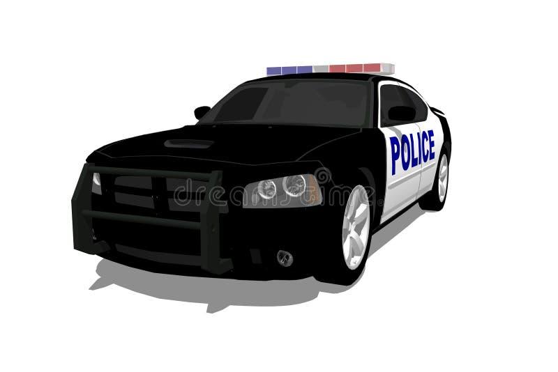 Coche policía americano ilustración del vector