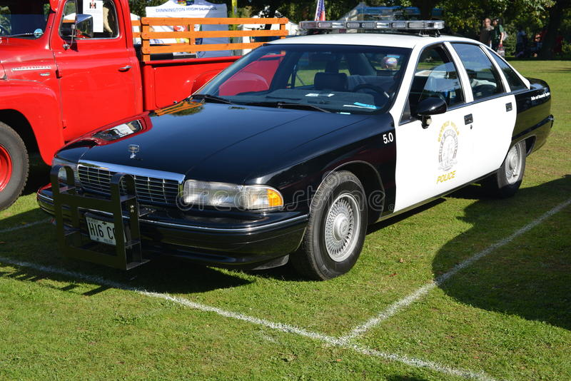 Coche policía de Beverly Hills Chevrolet imagenes de archivo
