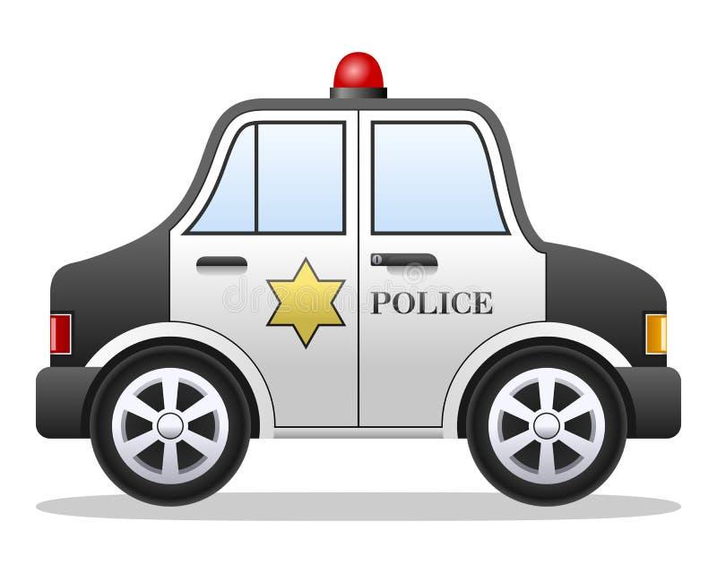 Coche policía de la historieta stock de ilustración