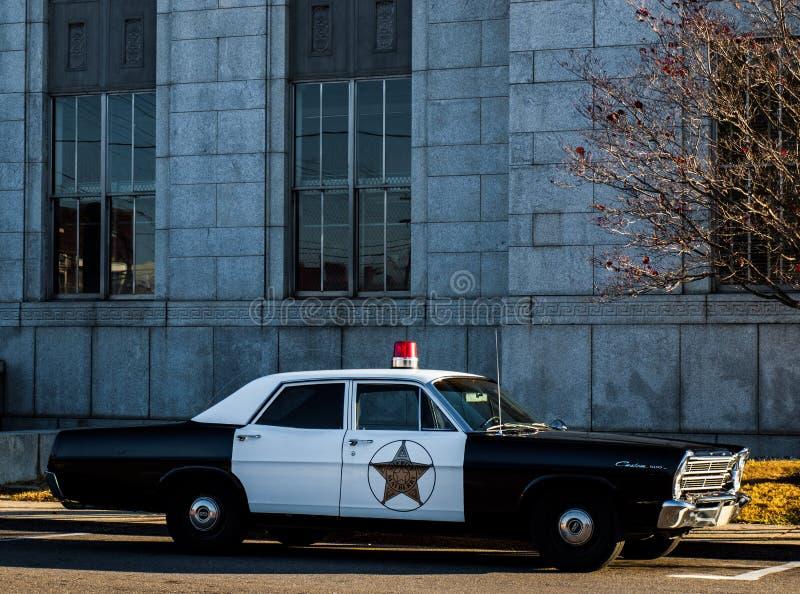 Coche policía de Mayberry fotos de archivo libres de regalías
