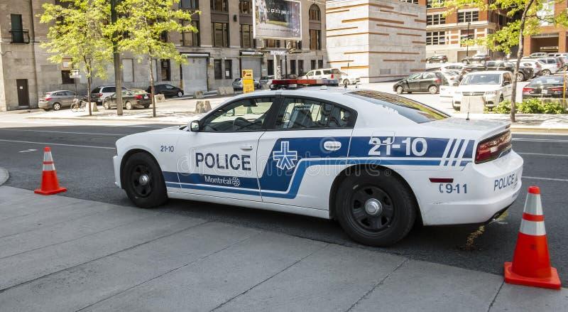 Coche policía de Montreal foto de archivo libre de regalías