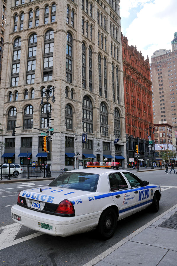 Coche policía de New York City fotografía de archivo libre de regalías