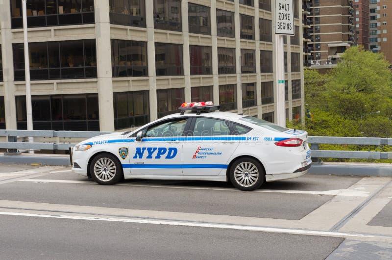 Coche policía de NYPD fotos de archivo libres de regalías