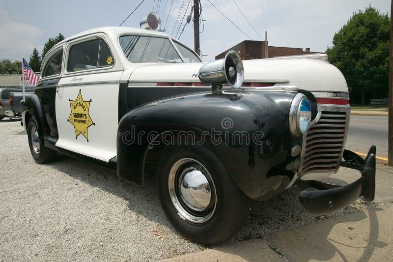 Coche policía del departamento de sheriff de Mayberry fotografía de archivo libre de regalías
