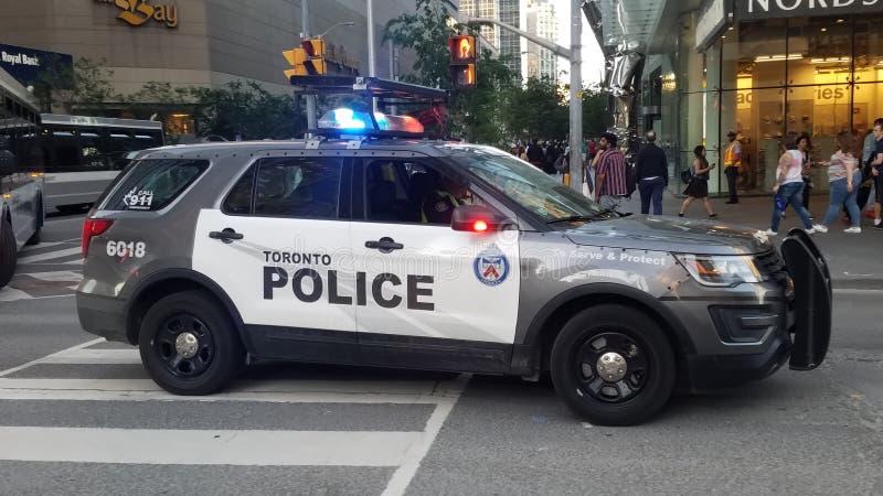 Coche policía en Toronto imagen de archivo libre de regalías