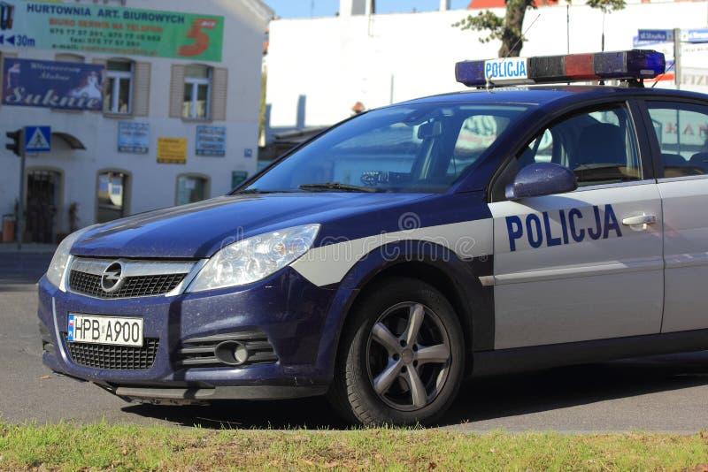 Coche policía polaco foto de archivo libre de regalías