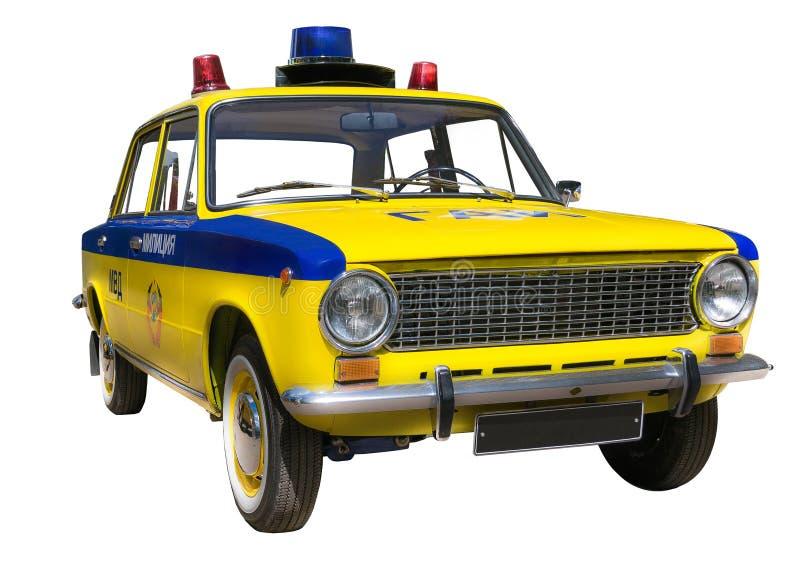 Coche policía retro foto de archivo libre de regalías