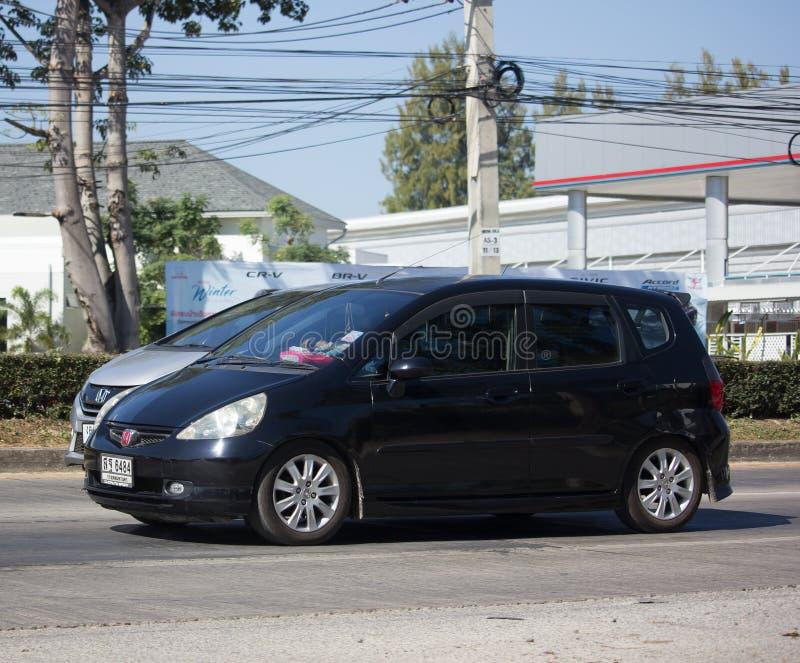 Coche privado Honda Jazz Hatchback de la ciudad imagenes de archivo