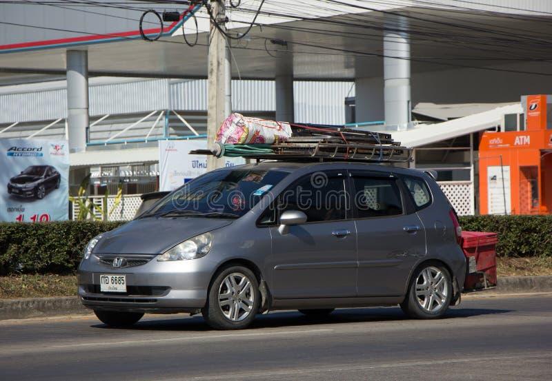 Coche privado Honda Jazz Hatchback de la ciudad imagen de archivo libre de regalías