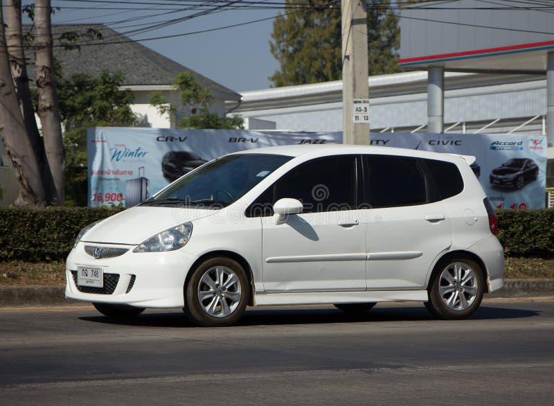Coche privado Honda Jazz Hatchback de la ciudad imagen de archivo