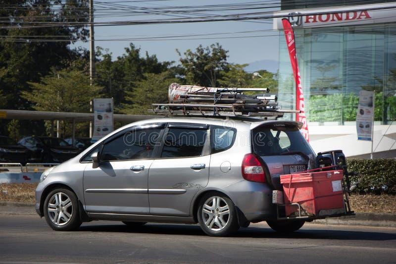 Coche privado Honda Jazz Hatchback de la ciudad fotografía de archivo libre de regalías