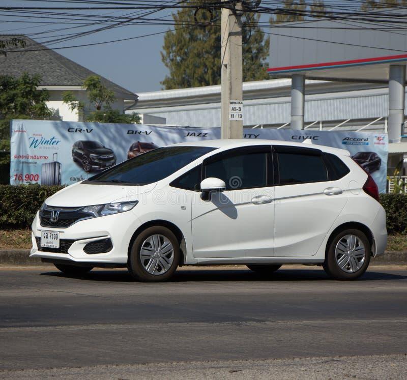 Coche privado Honda Jazz Hatchback de la ciudad foto de archivo