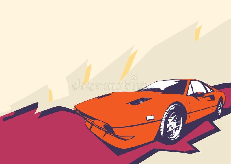 Coche retro ilustración del vector