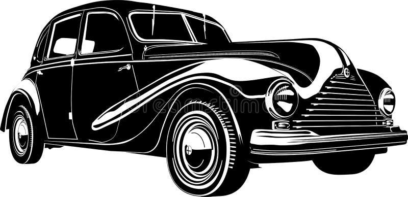 Coche retro de la ilustración del vector libre illustration