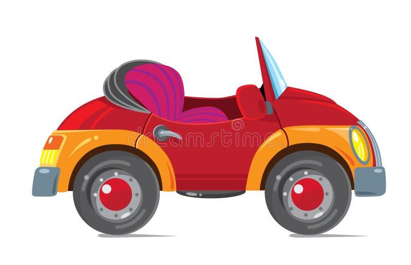 Coche retro divertido cabriolet stock de ilustración