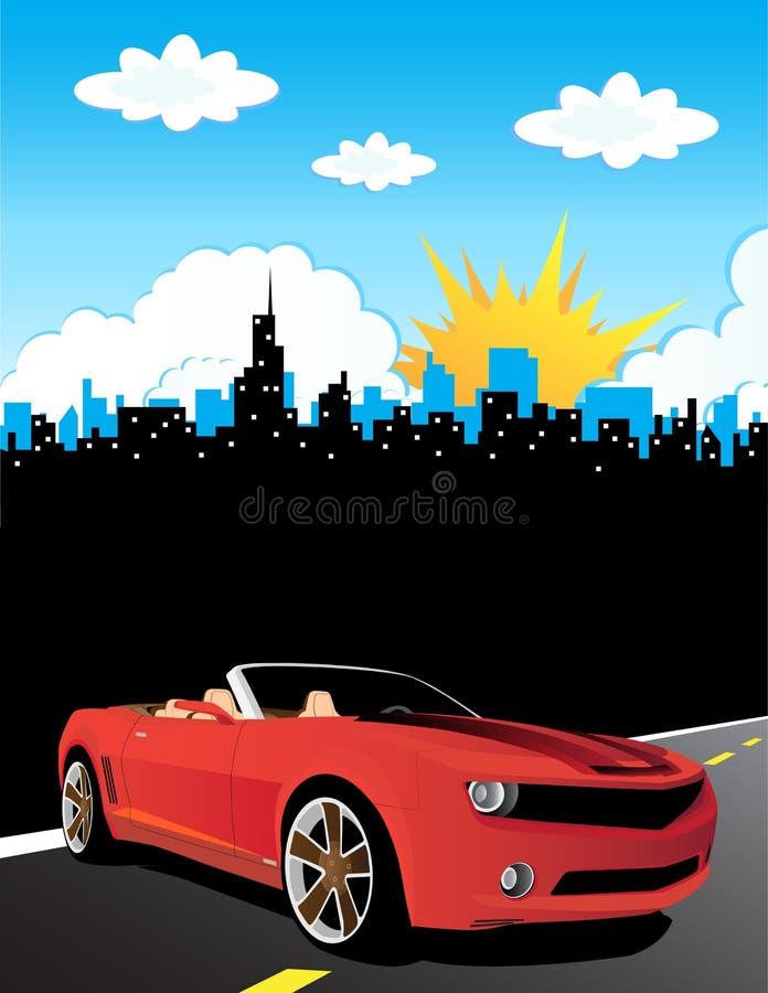 Download Coche rojo ilustración del vector. Ilustración de negro - 7288268