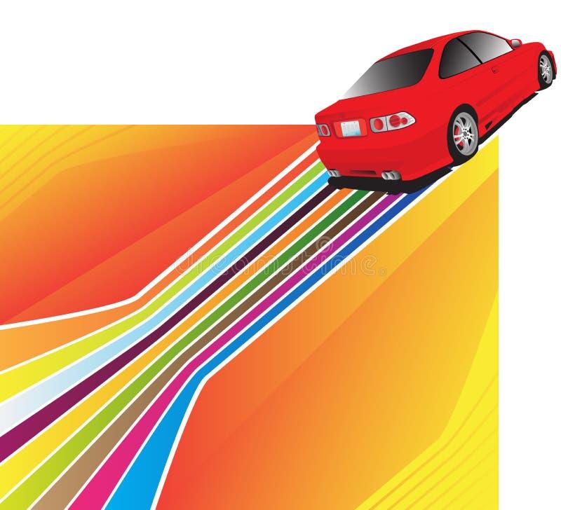 Download Coche rojo ilustración del vector. Ilustración de motor - 7289260