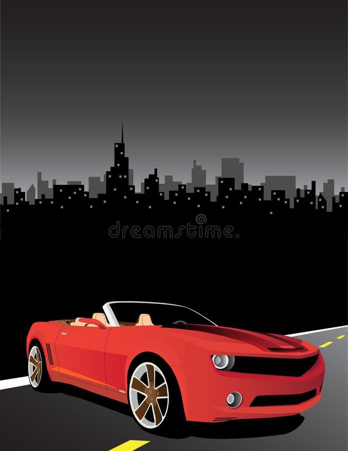 Download Coche rojo ilustración del vector. Ilustración de motor - 7289451