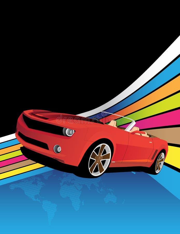 Download Coche rojo ilustración del vector. Ilustración de luminoso - 7289504