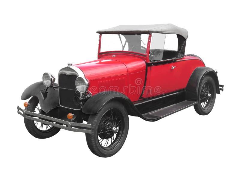 Coche rojo del automóvil descubierto aislado imagen de archivo libre de regalías