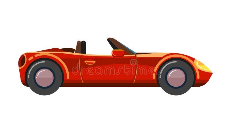 Coche rojo del cabriolé Supercar cómodo del automóvil del cabrio de Wageningen del negocio de lujo del deporte stock de ilustración