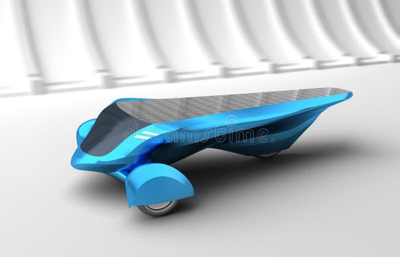 Coche solar futuro del concepto. ilustración del vector