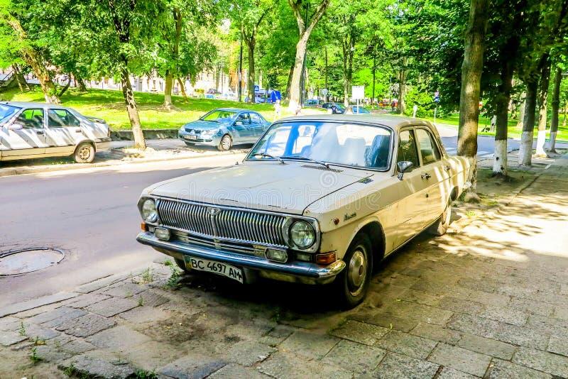 Coche soviético de Lviv fotografía de archivo