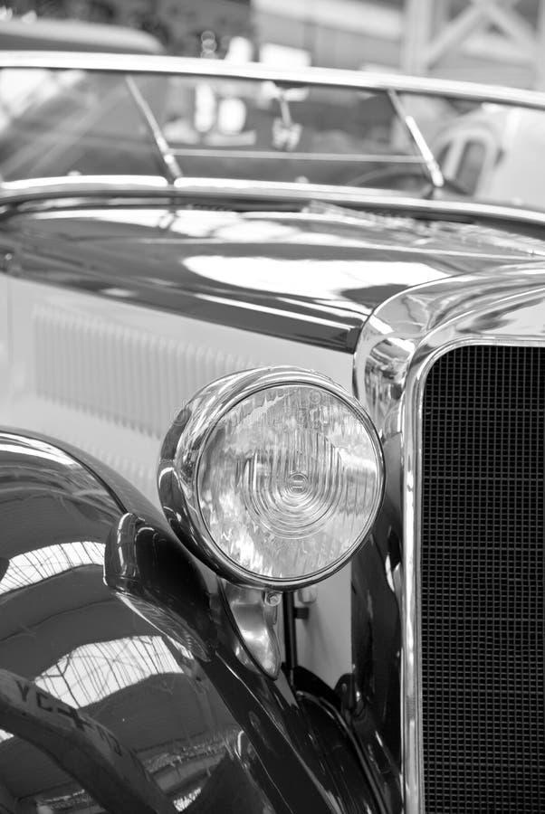Coche, vehículo de motor, blanco y negro, coche del vintage fotos de archivo