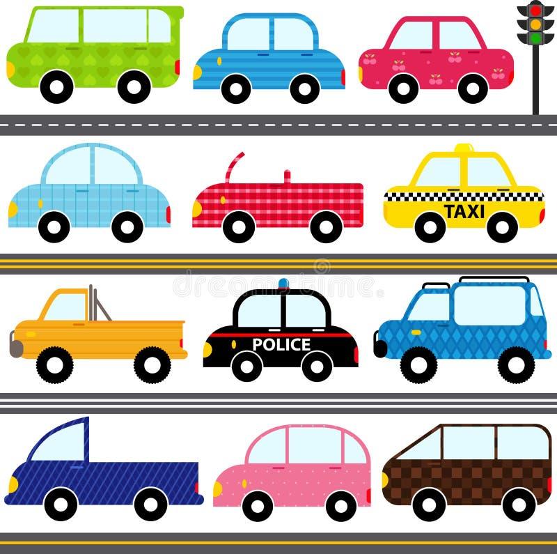 Coche/vehículos/transporte ilustración del vector