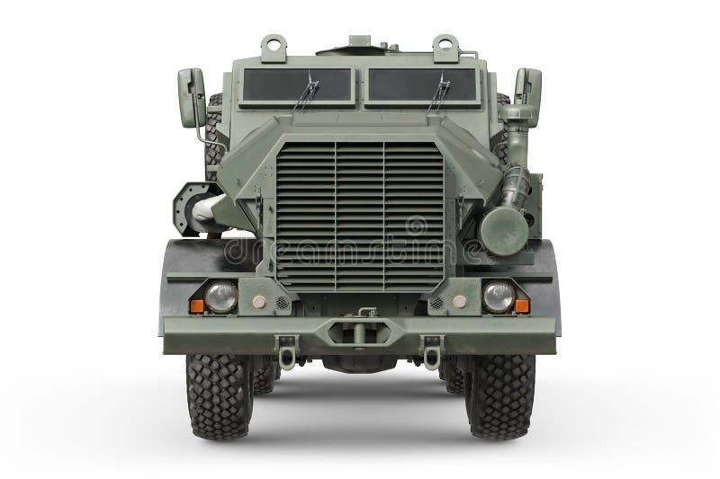 Coche verde militar del camión, vista delantera ilustración del vector