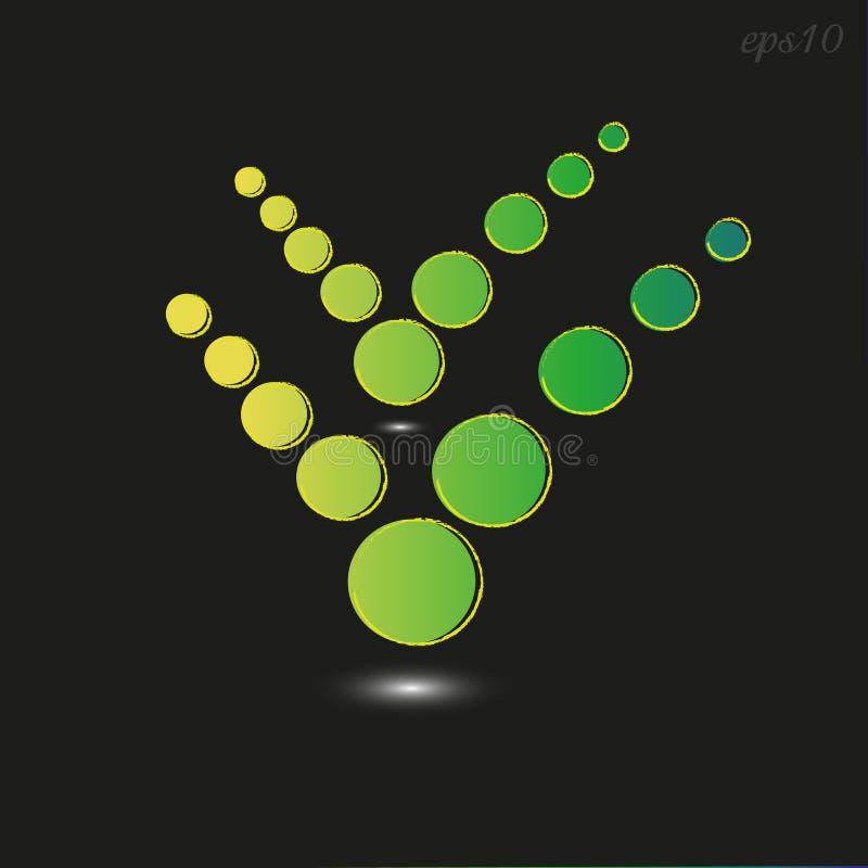 Coche vert de symbole de cercle illustration libre de droits