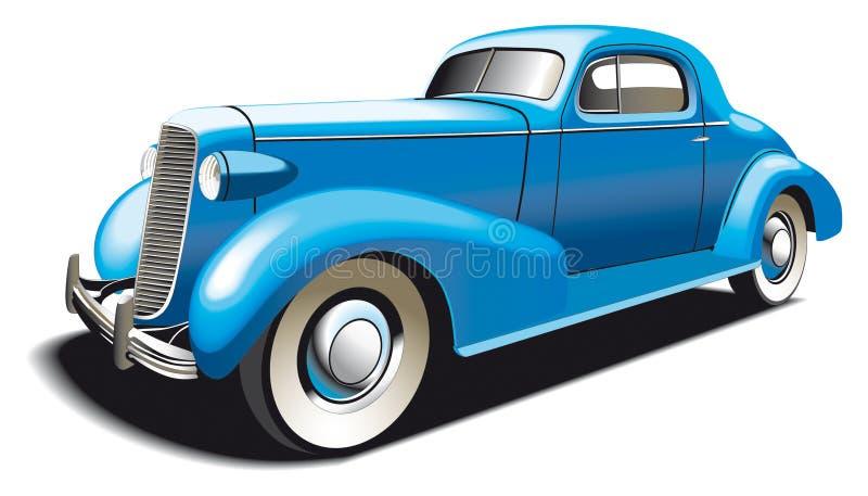 Coche viejo azul ilustración del vector