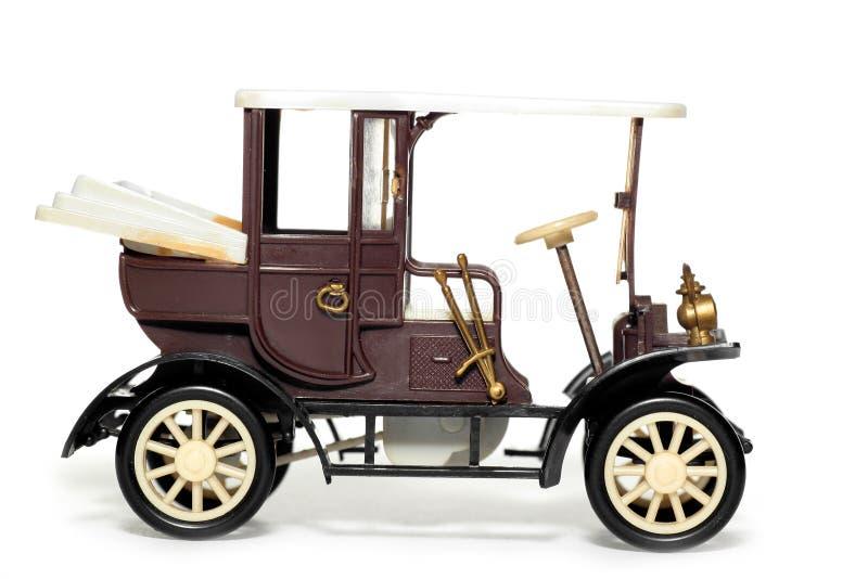Coche viejo Velox Praga 1900 del juguete fotografía de archivo