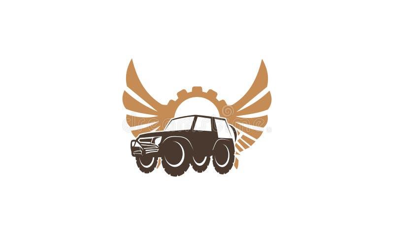 Coche Wing Gear de la aventura stock de ilustración