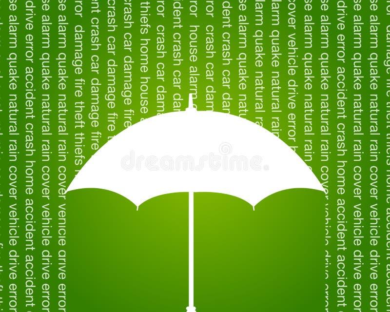 Coche y anuncio publicitario casero del seguro stock de ilustración