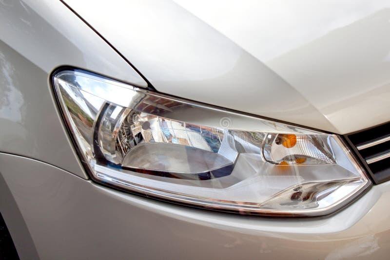Coche Y Front Headlight De Plata Abstractos Imagen de archivo