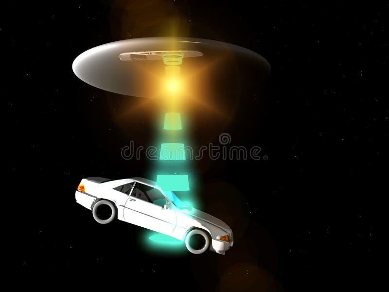 Coche Y UFO 65 Fotos de archivo libres de regalías