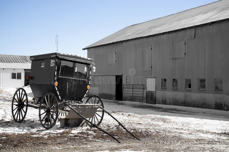 Cochecillo de Amish imagenes de archivo