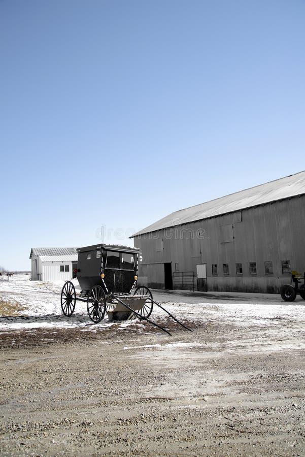 Cochecillo de Amish imagen de archivo