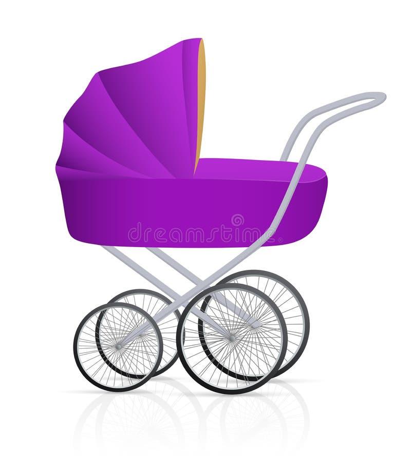Cochecillo de bebé stock de ilustración