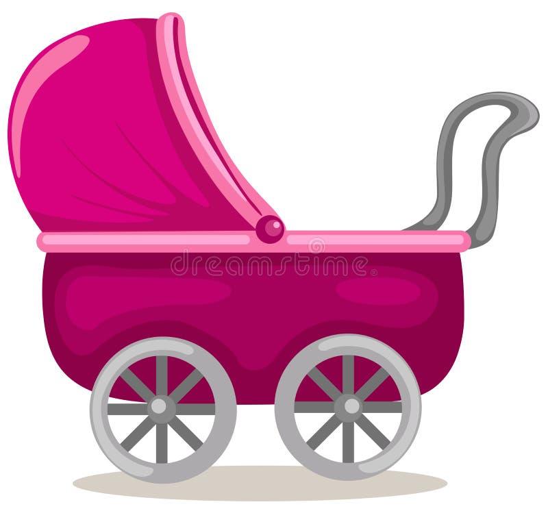 Cochecito de niño del bebé stock de ilustración