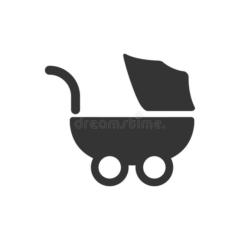 Cochecito, icono del bebé libre illustration