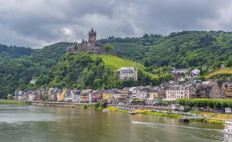Cochem Castle, Moselle valley. Germany stock images