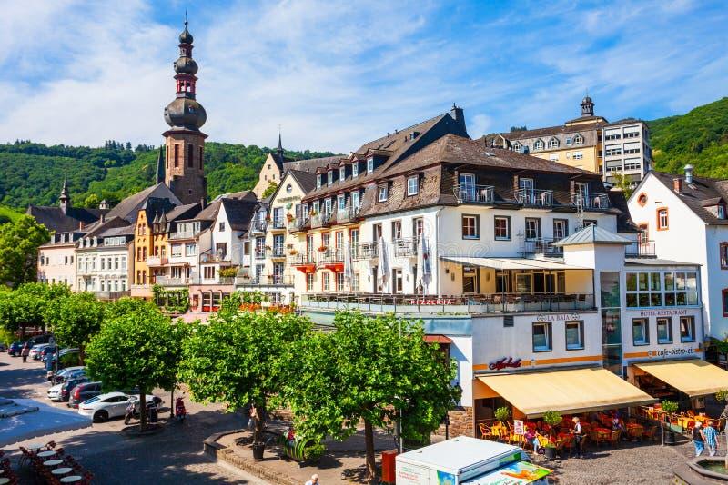 Cochem gammal stad i Tyskland fotografering för bildbyråer
